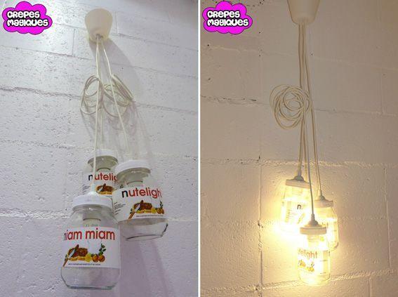 Lampe lustre insolite
